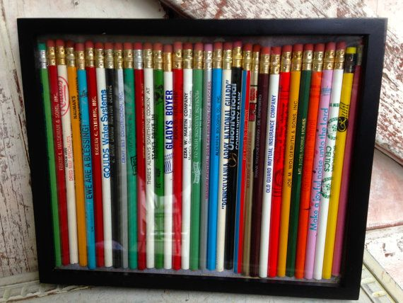 Vintage Pencil Collection In Frame Craftiness