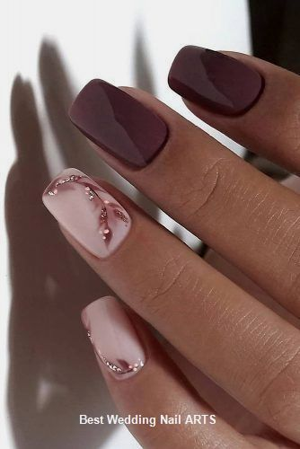 35 Simple Ideas for Wedding Nails Design #nailartideas #nailart
