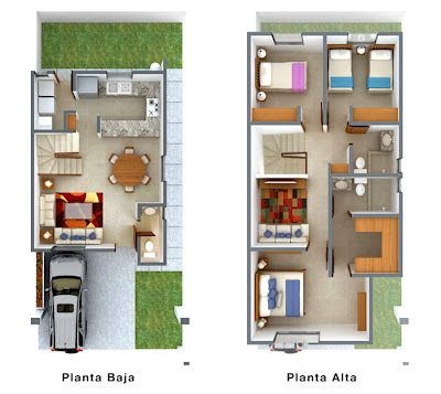 planos de casas pequenas de 5 x 15