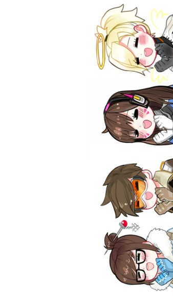 OW OW OW OW  CUTE STYLE/喵莉安MeowLian. Overwatch Mei Tracer D.va Mercy