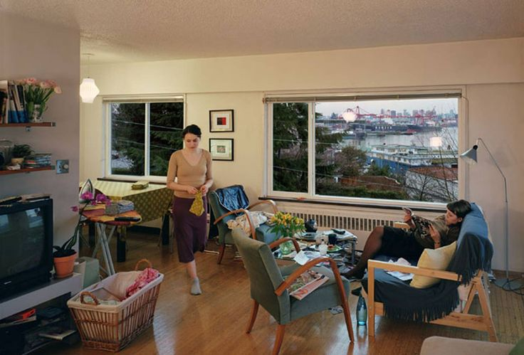 Jeff Wall, A View from an Apartment, 2004-2005, Transparency in lightbox, 167 x 244 cm