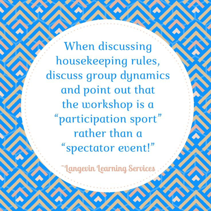 Participation and Group Dynamics