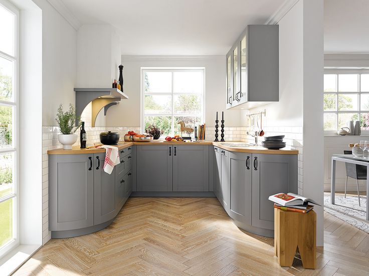 the casa agate grey kitchen from schller is a cute country style perfect for adding some character to your home - Kuchen Von Schuller
