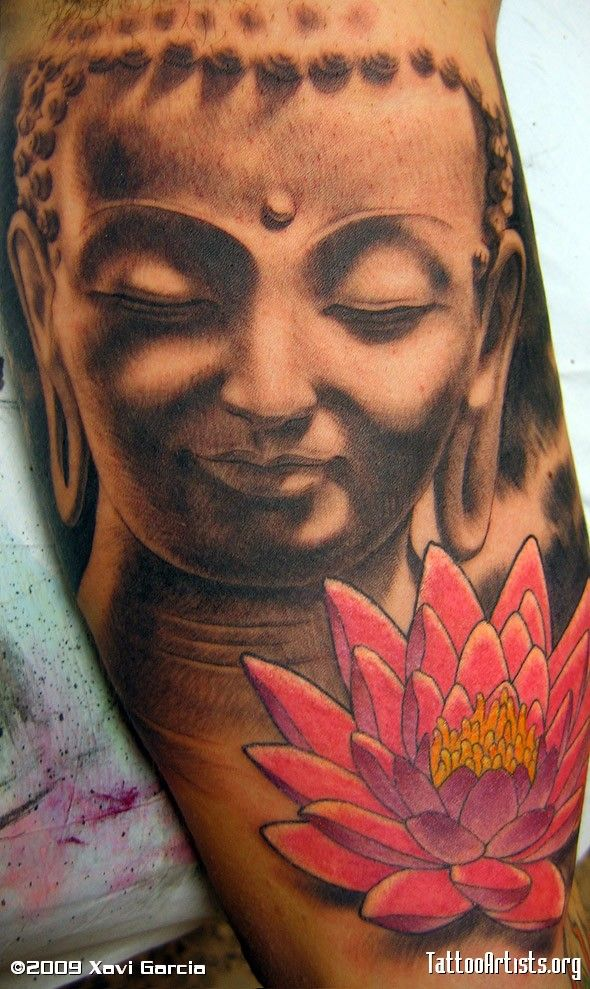 Like this, but would like to see a better juxt. b/t the Buddha and lotus flower.