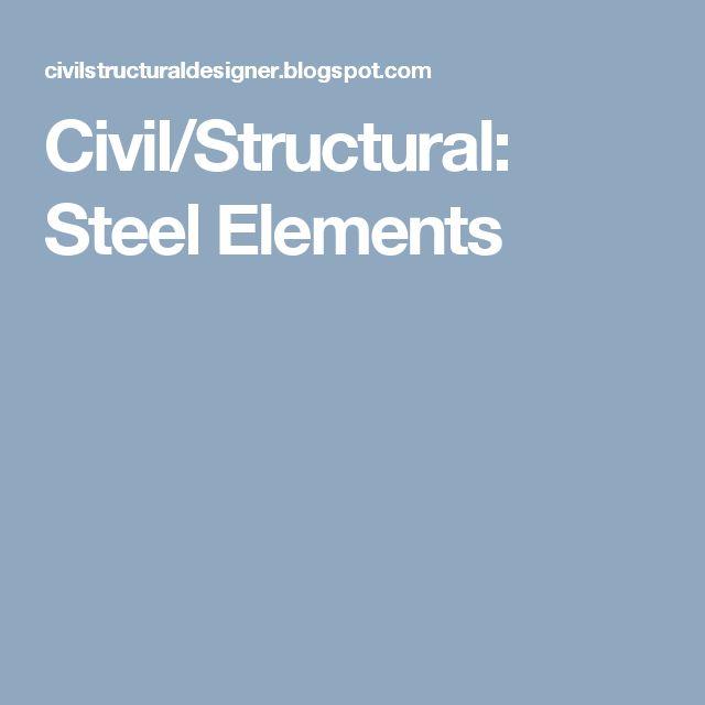 Civil/Structural: Steel Elements