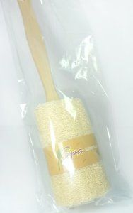 """Luffa Natural Back Brush with Large 15"""". from spa thailand. by Luffa. $12.50. Luffa reveals your glowing skin.. spa thailand.. Luffa. Luffa, a natural sponge for body cleansing ,removing dead skin cells,and revitalizing softer new skin.  Usage. Soak the luffa in water. Scrub the Luffa over your body together with soap or shower cream.Use tha Luffa 3-4 times a week to remove dirt and dead skin cells from your body. You can also use the Luffa daily to reveal your glowing s..."""