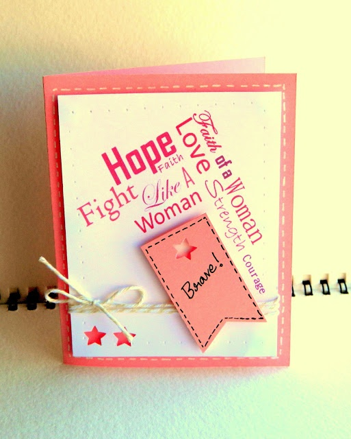 Fight against breast cancer - Self designed Typography BG | Love for art in many forms: Card O'Mania - Eesha Kolli Handmade Cards  #handmadecards #greetingcards #DIY #handmade #hope #breastcancer