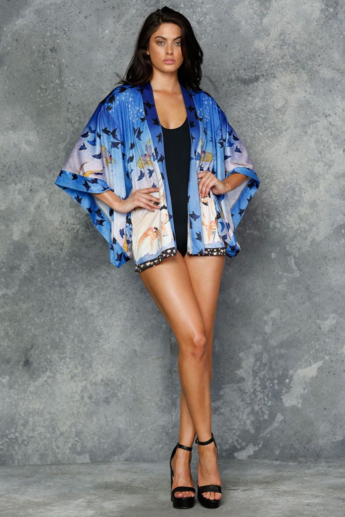 In The Blue Mountain Kimono - LIMITED (AU $120AUD) by BlackMilk Clothing