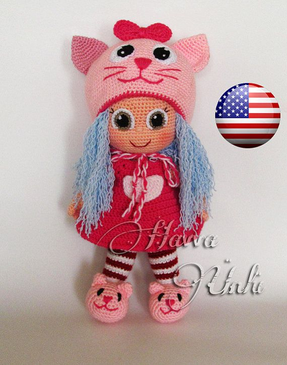 PATTERN  Cat Doll crochet amigurumi by HavvaDesigns on Etsy