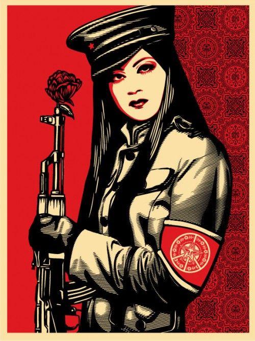 "Shepard Fairey, ""Peace Guard"""