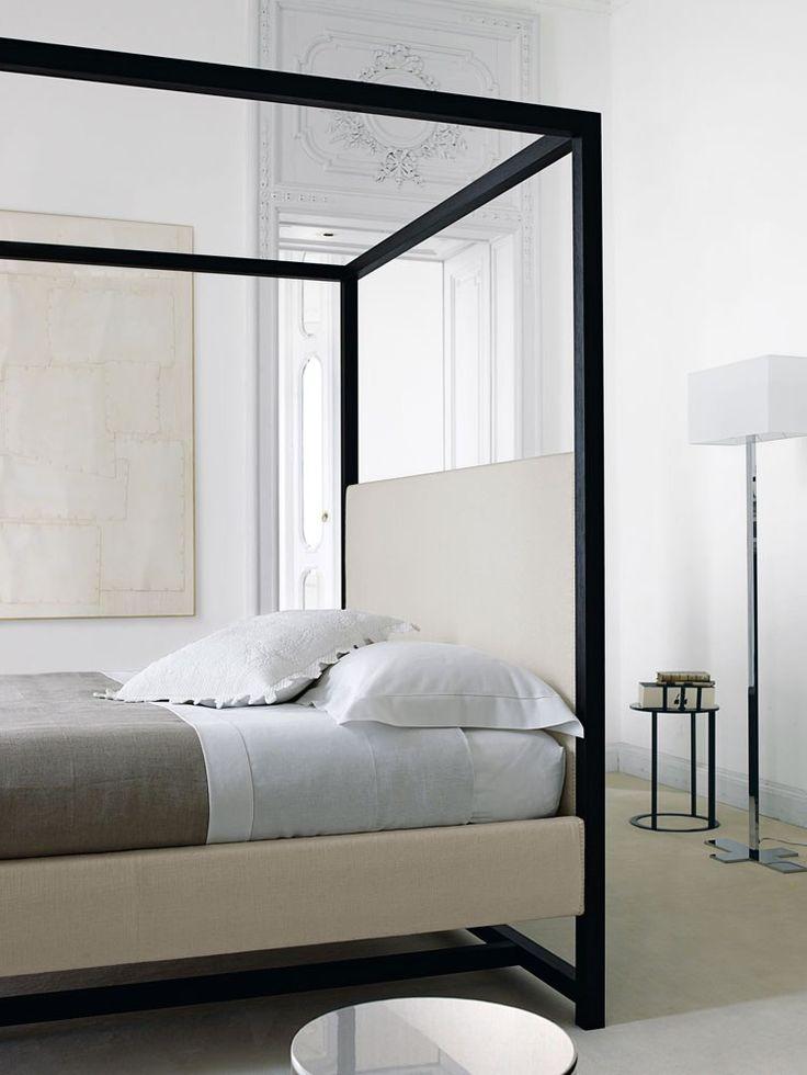 Double bed with removable cover ALCOVA 2009 - Maxalto, a brand of @bebitalia