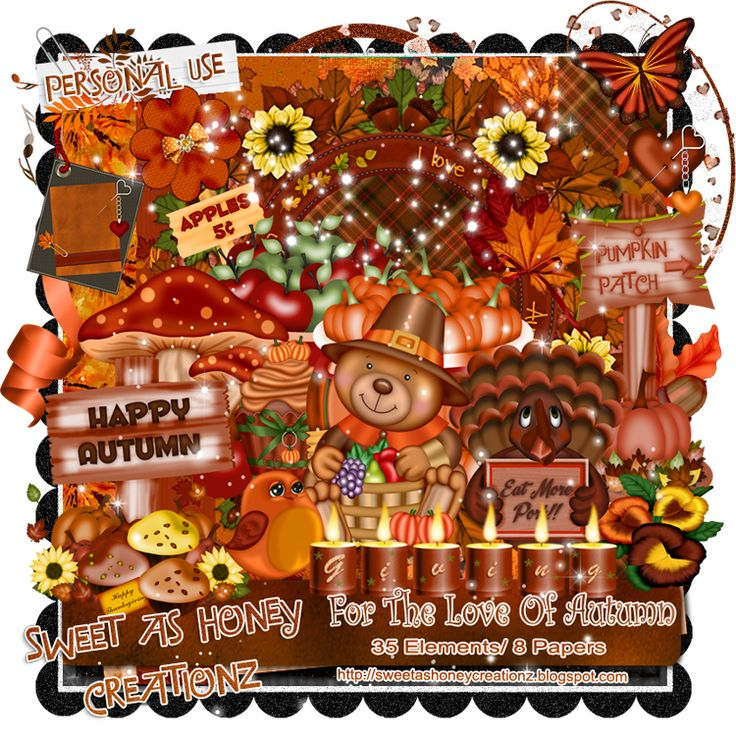 Hi All New kit For you!! For The Love Of Autumn.. I hope you like it tons of gorgeous elements vibrant Autumn colors, cute fall critters an...