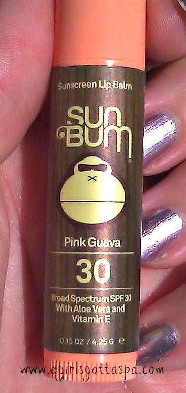 Sun Bum Pink Guava SPF Lip Balm #spf #sunscreen #beauty