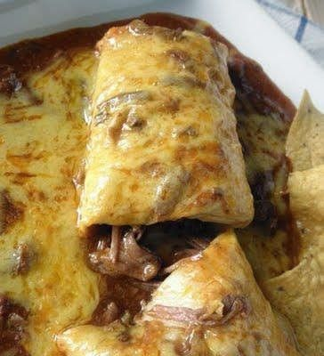 cooking recipes: My husband asks me to make this at least once a week. Pulled pork burrito. #2 burrito