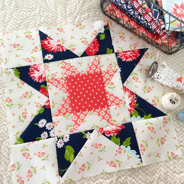 Carried Away Quilting Star Spangled Bom With Fort Worth Fabric Studio Block 3 Moda Fabrics Quilts Sewing Circles Moda Fabric Quilts