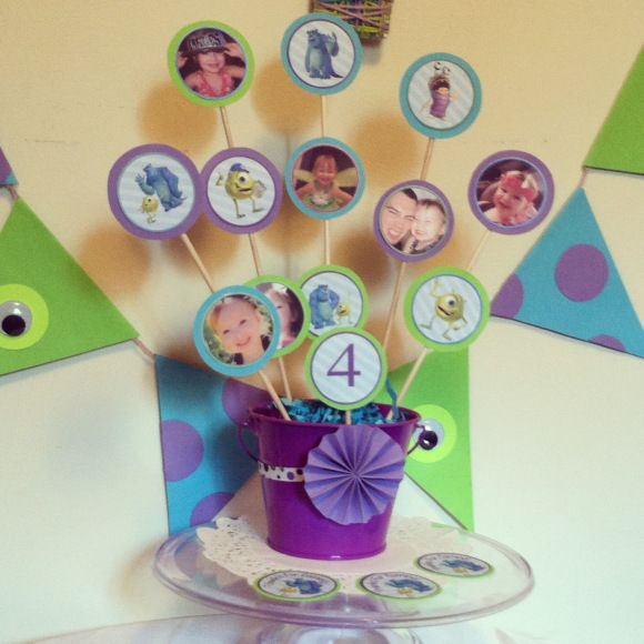 Monsters inc DIY centerpiece and decor