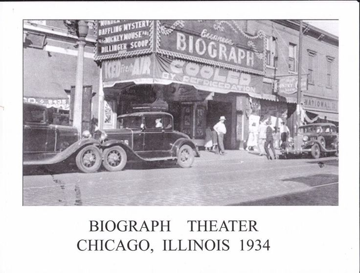 Biograph Theater, Chicago, Dillinger gunned down here, 1934-Photo reprint