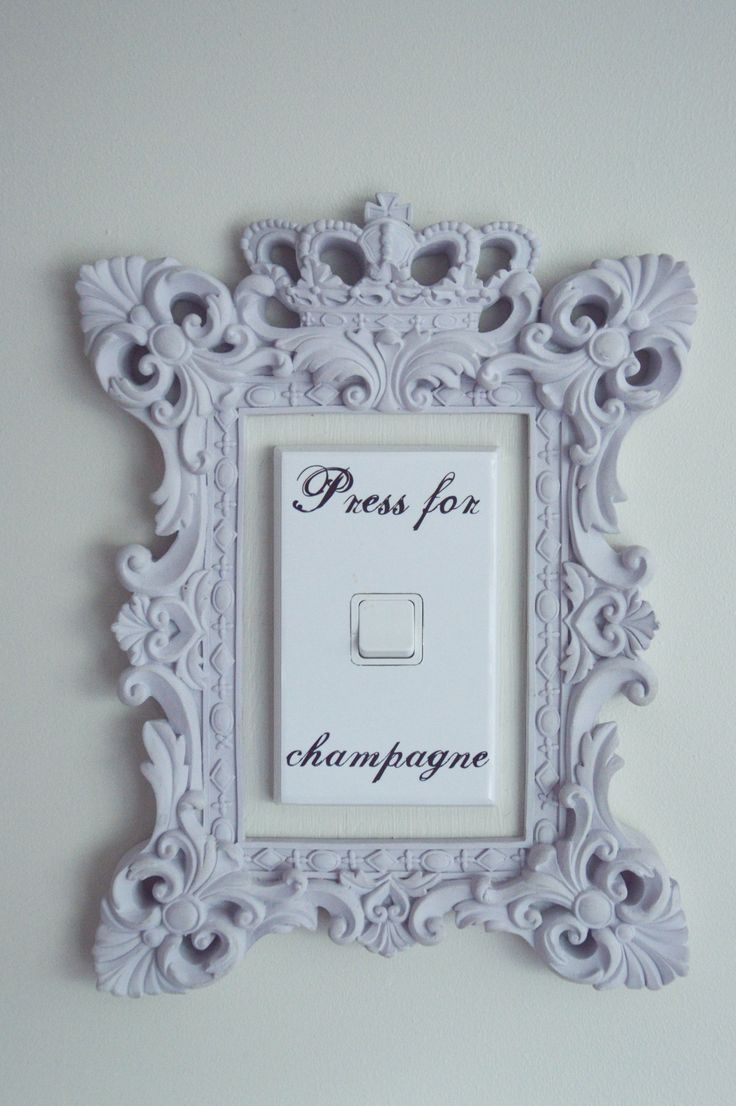 Our very own Champagne light switch - because life is too short for boring switches!