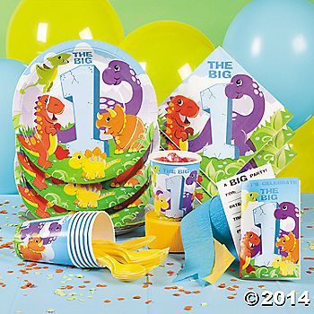 Dinosaur 1st Birthday Party Supplies