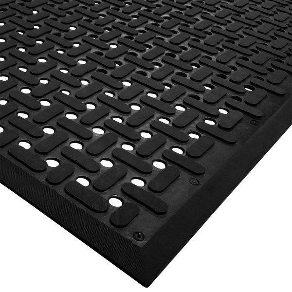 Cactus Mat 2540 C35 Vip Guardian 3 X 5 Black Grease Proof Anti Fatigue Floor Mat 1 4 Thick Wet Floor Signs Floor Mats Wet Floor