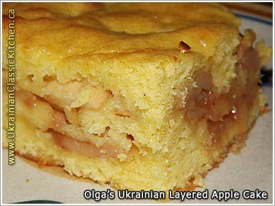 Ukrainian Layered Apple Cake / Yabluchnyk