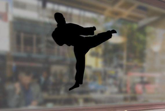Karate Kick Martial Man Art Vinyl Stickers by FunnyVinylStickers