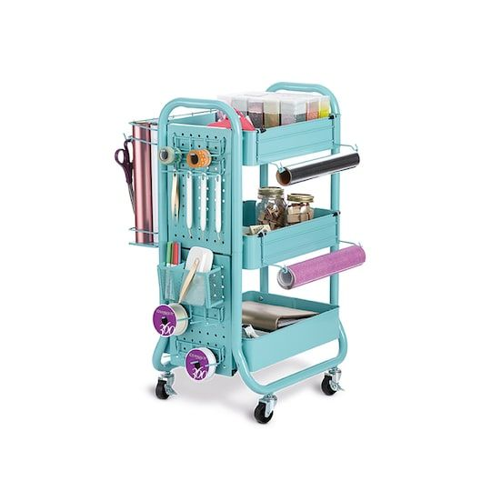 549055a5398d Teal Gramercy Cart by Recollections™ in 2019 | Craft Room/Home ...
