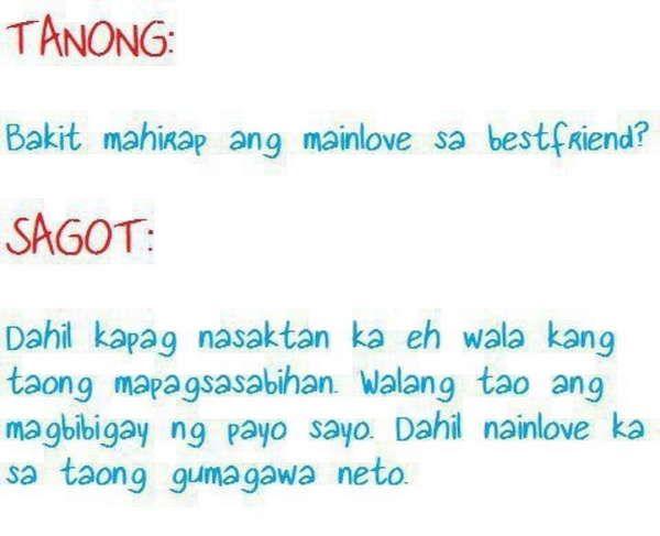 Bakit Mahirap Ma In Love Sa Bestfriend Pinoy Tagalog Quotes