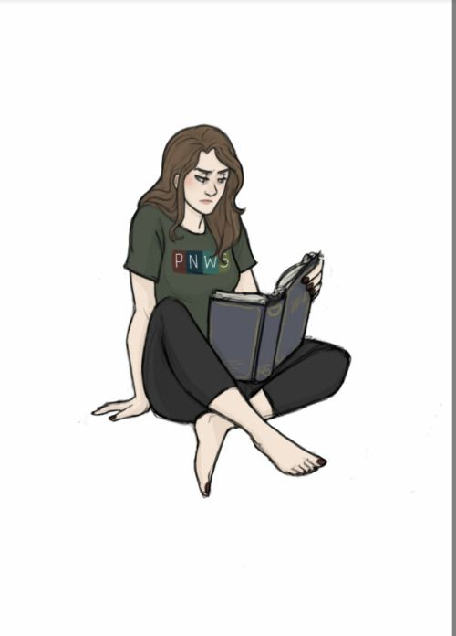 ciinderblock:  I miss The Black Tapes podcast. And through the pain of my withdrawal, I've decided to play around with some character designs.  So here's everyone's favorite host: Alex Reagan What's she reading? Who knows. But my bet is, it's one of Strand's books because even on her days off from demon-hunting and travelling around, she can't seem to get that handsome but insufferable ass out of her head.