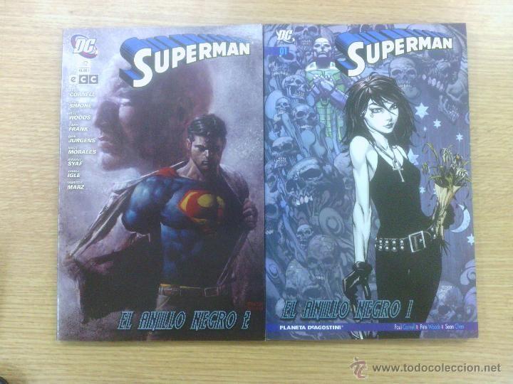 SUPERMAN EL ANILLO NEGRO COLECCION COMPLETA (2 TOMOS) $24
