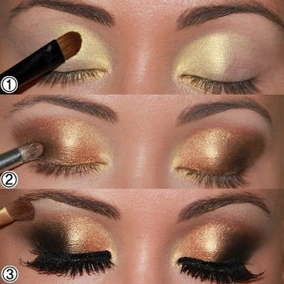 maquillaje morado con dorado | Solo elige el tono que mas te agrade para tu maquillaje de noche .