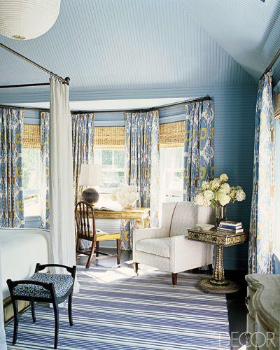 Katie Ridder designed reading nook in master bedroom