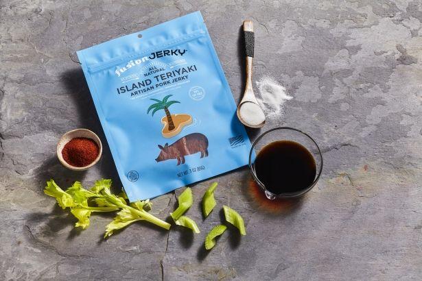 Pork Jerky: Island Teriyaki - 3oz Bag - All Natural & Gluten Free by Fusion Jerky on Gourmly