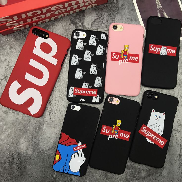 For iPhone 5 5s SE 6 6s 7Plus 7 Plus supreme Simpson IPNDIP Pocket Cat Mickey Mouse Superman matte Hard Phone coque cases cover