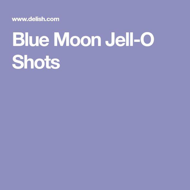 Blue Moon Jell-O Shots