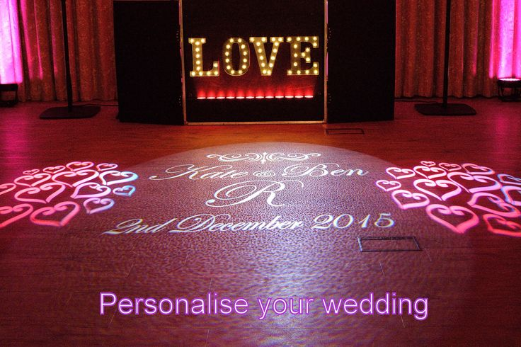 Personalise your wedding with a wedding monogram - DJ Martin Lake