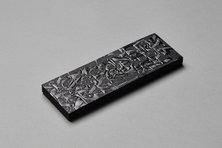 FIAC bookmark 2015 designed by the Paris-based studio Akatre on Curious Matter Black Truffle paper by Arjowiggins Creative Papers.