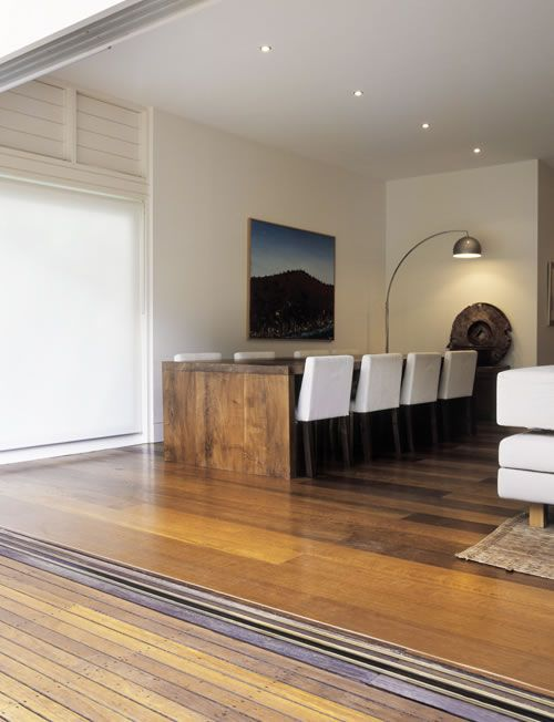Precision Flooring - Solid timber options: blackbutt in espresso or black sika flex, American walnut, american oak in burnt oak, jarrah (maybe too red), mainbrace holt - Engineered opts: European oak in espresso, sienna and penza, American oak in smoked & limed and espresso - Recycled ironbark