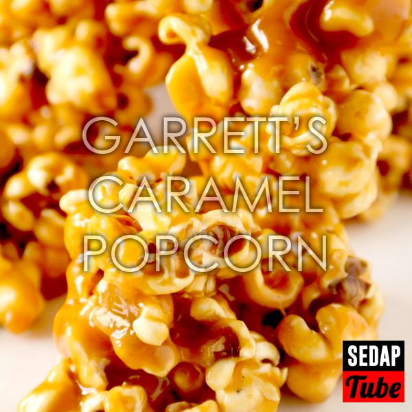 Resepi Popcorn Badam Karamel Garrett's - Powered by @ultimaterecipe
