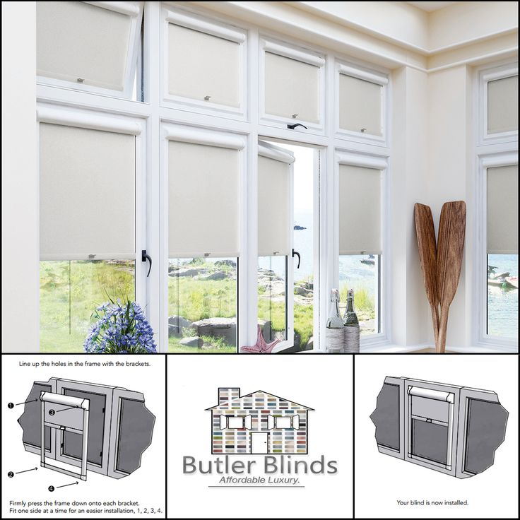 No Tools Needed! Perfect Fit Blinds. Designed especially for UPVC windows and conservatories.