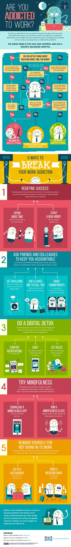 Are You Addicted to Work? [Infographic] MATTHEW KOSINSKI  |  August 9, 2016