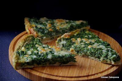 Zdrowo zakręcona: Tarta na kruchym spodzie ze szpinakiem i sosem ser...