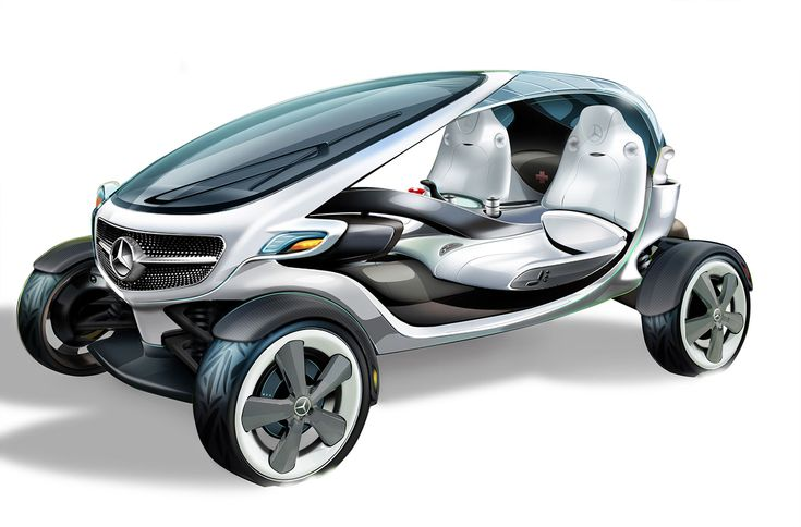 Mercedes-Benz Vision Golf Cart Concept - Design Sketch