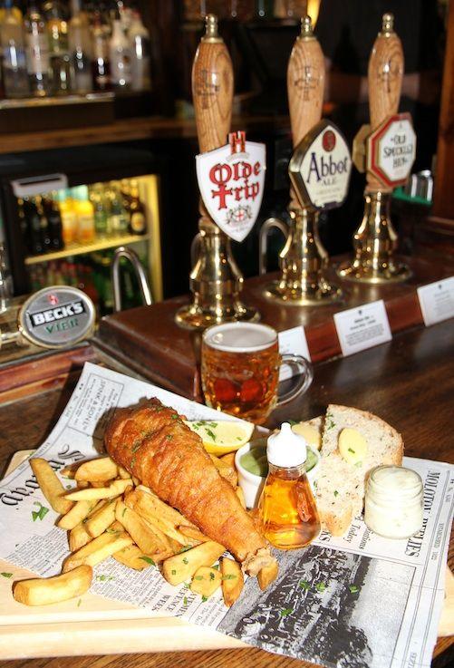 Ye Olde Trip To Jerusalem Pub. fish & chips