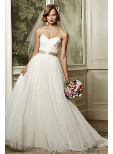 abiti da sposa da sposa in tulle giardino