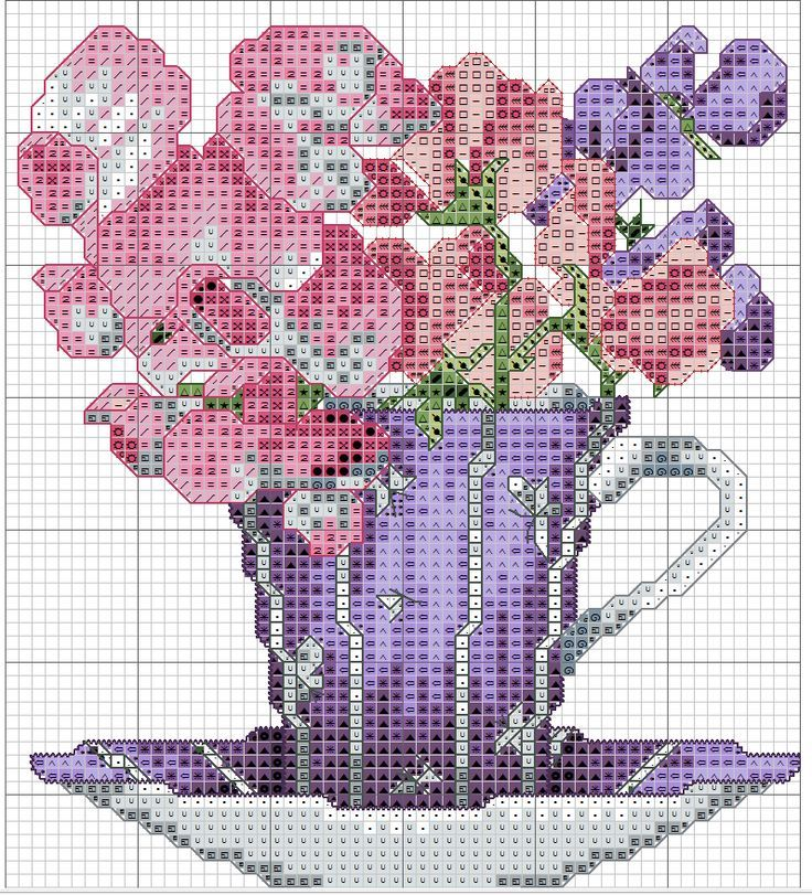 цветок в чашке
