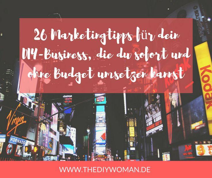 Du möchtest, dass dein DIY-Business bekannter wird und mehr Menschen deine handgemachten Produkte kaufen? Dafür musst du zunächst nicht unbedingt viel Geld in die Hand nehmen. Es gibt einige Dinge, die du auch ohne Budget umsetzen kannst.