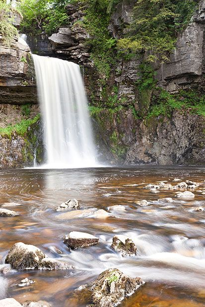 Thornton Force, Yorkshire      The best of the many waterfalls found near Ingleton, on the edge of the     Yorkshire Dales, Thornton Force plunges 46ft in to the River Twiss. The     Ingleton Waterfalls Trail, a 4.5-mile circular path, takes in Thornton and     several other falls.