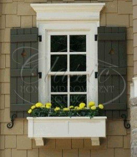 20 Lovely Exterior Window Shutter Design Ideas Front Windows House Shutters Windows Window Shutters Exterior