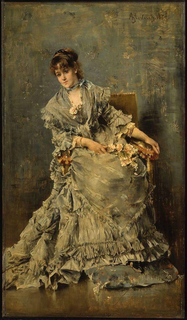 The Attentive Listener - Alfred Stevens 1879
